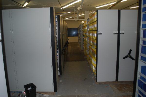 High Density Compact Mobile Shelving for studio film vaults