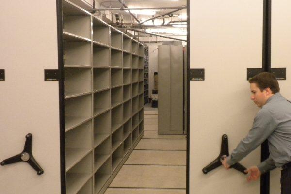 Multimedia Vault Mobile Shelving Storage System
