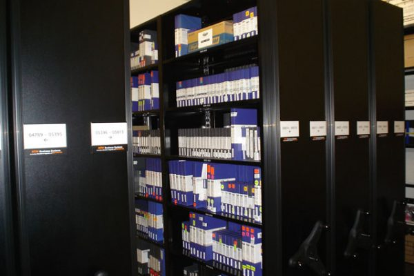 Tape Vault Compact Shelving