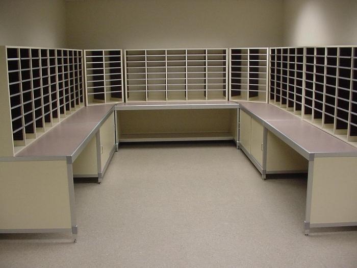 U Shaped Mail Center Stations Furniture