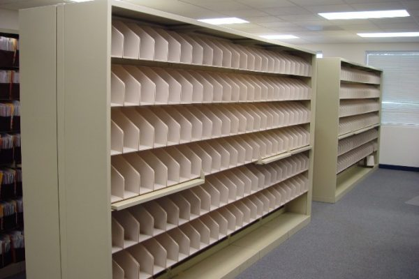 Unloaded File Move Shelving, Storage System Moves and Relocations
