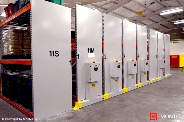 High Density Electric Mobile Shelving, Warehouse Metal Racking and Shelving Systems