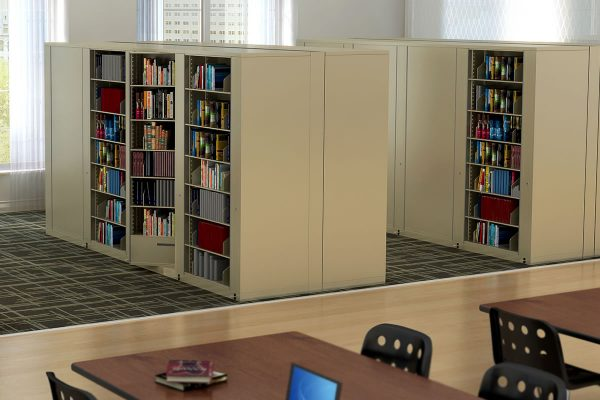 Back to Back Rotary File Storage Cabinets