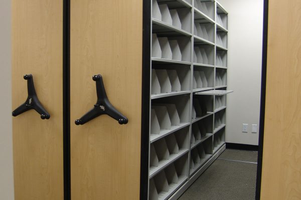 Biomedical Central File Room Compact Shelving System