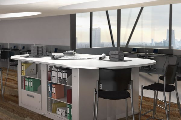 Conference Table Rotary Cabinet Storage
