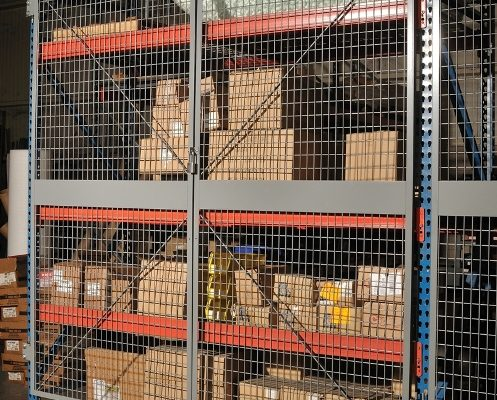 Pallet Rack Security Doors