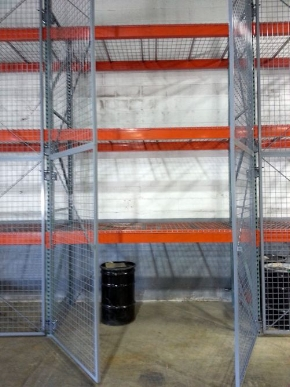 Welded Wire Pallet Rack Doors Open