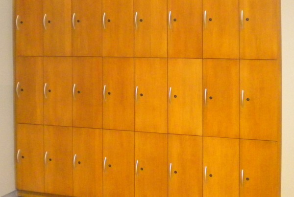 wall mounted lockers