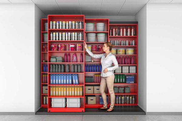 Quad Mobile Manual Storage System