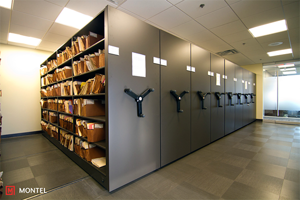 High Density Storage Systems - Mechanical Assist High Density Mobile Shelving Systems
