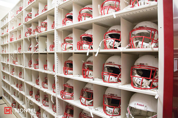 Shelving for Sports Gear - Athletic Equipment Storage