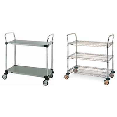 wet chemical carts - medical carts - carts for clean rooms