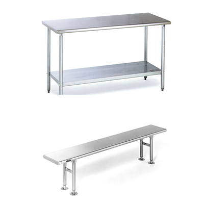 Gowning Benches - Stainless Steel Tables - Stainless Steel Benches
