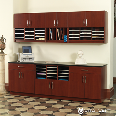 Mailroom Design - Modular Casework Furniture for Office Storage - Mailroom Storage - Document Storage