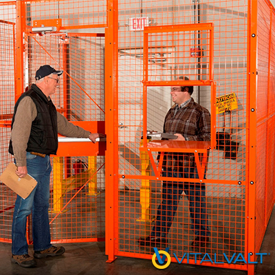 Secure Employee Access Cage