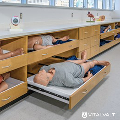 Physical Therapy Modular Casework - Steelcase Millwork
