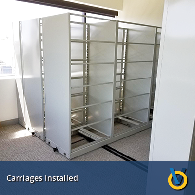 High Density Storage - Mechanical Assist Storage System - Carriage Install