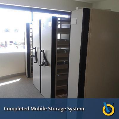 High Density Storage - Mobile Shelving Install
