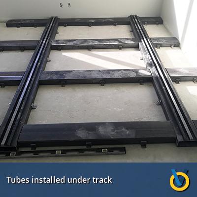 High Density Storage System Track Install