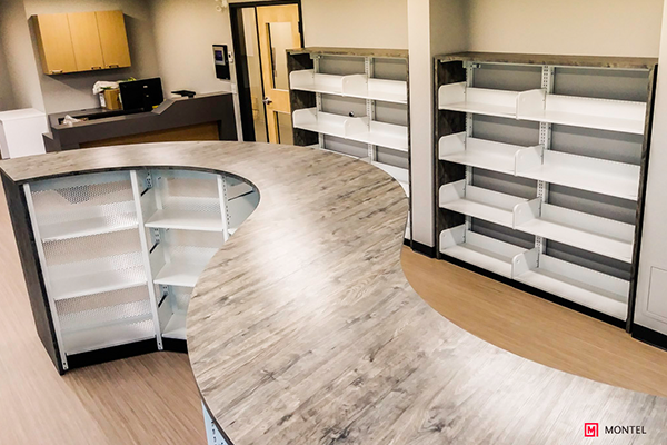 Curved Shelving Case Type Systems - Curved Storage Systems