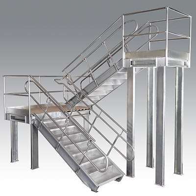 Custom Made Warehouse Stairs & Platforms