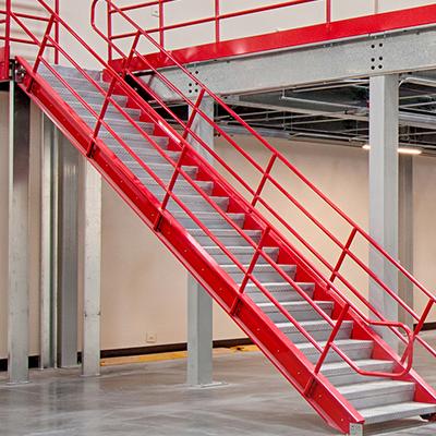 Pre-Fabricated Mezzanine Stairways
