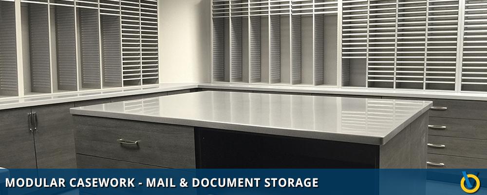 Mail Center Storage - Document Storage Using Modular Casework