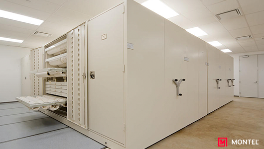 High Density Mobile Museum Storage System