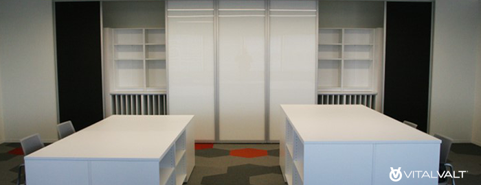 Casework Storage - Movable White Board