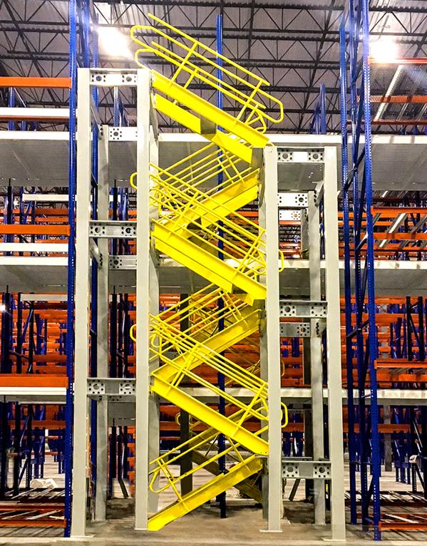 Retractable Stairways - Warehouse Storage Platforms
