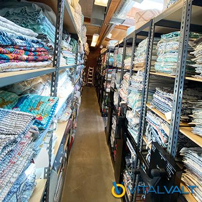 High Density Mobile Textile Storage