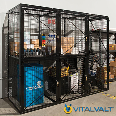 Retail Inventory Cages - Wire Partitions for Inventory