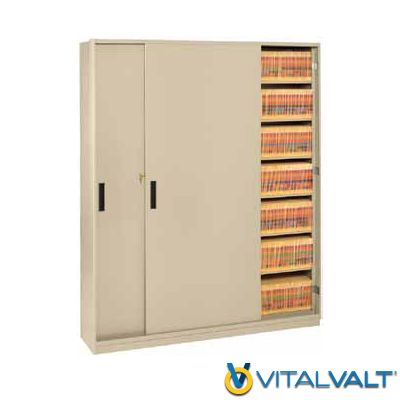 Secure Shelving Units with Doors