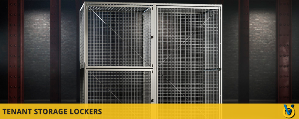 Mesh Wire Storage Lockers for Resid