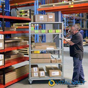 Storage Shelving on Wheels