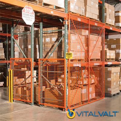Warehouse Security Cages - Pallet Rack Doors