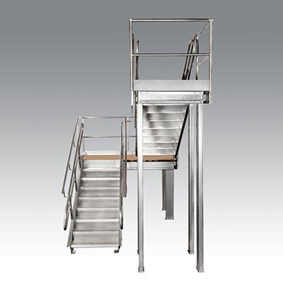 Mezzanine Stairs - Prefab Metal Stairs